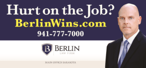 Berlin Law Firm's first billboard, unveiled September 1, 2016
